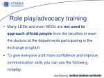 role play advocacy training