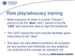 role play advocacy training1