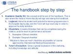 the handbook step by step5