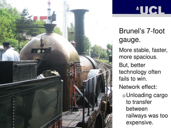 Brunel's 7-foot gauge.
