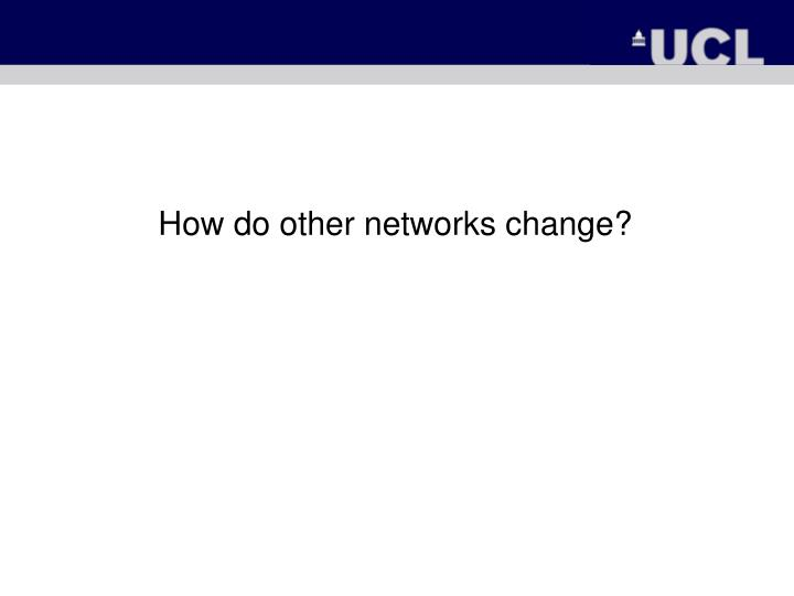 How do other networks change?