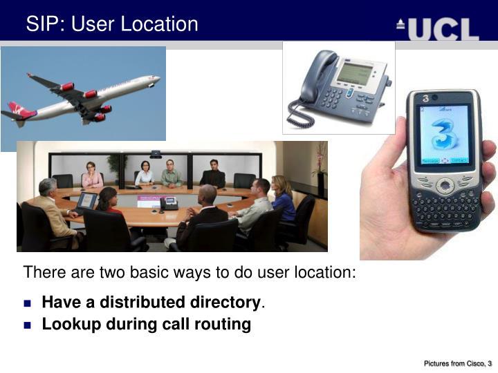 SIP: User Location