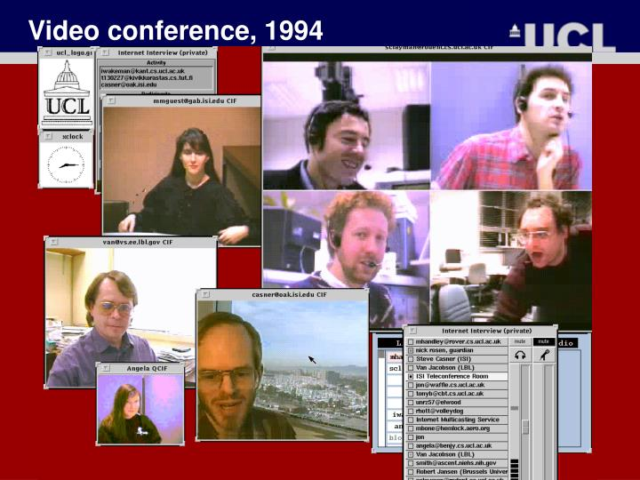 Video conference, 1994