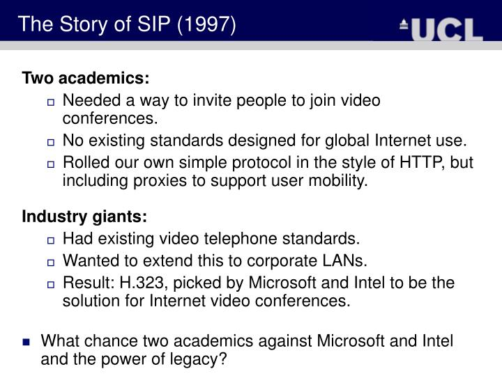 The Story of SIP (1997)