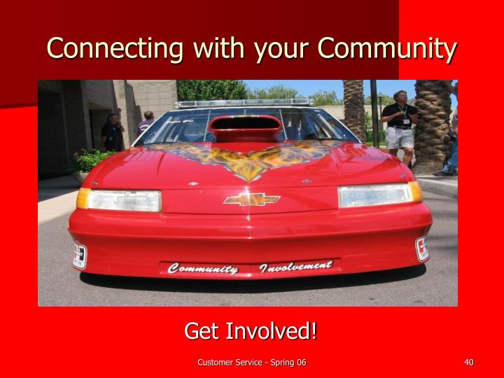 Connecting with your Community