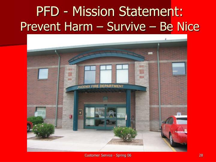 PFD - Mission Statement: