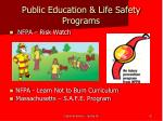 public education life safety programs