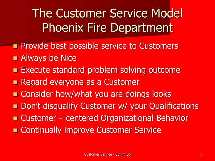 The Customer Service Model