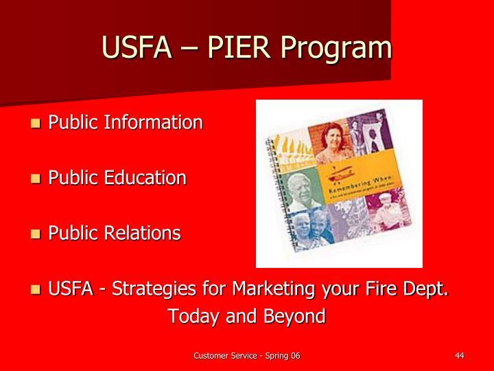USFA – PIER Program