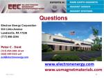 peter c dent 717 459 1001 direct 610 349 5525 cell pcd@electronenergy com
