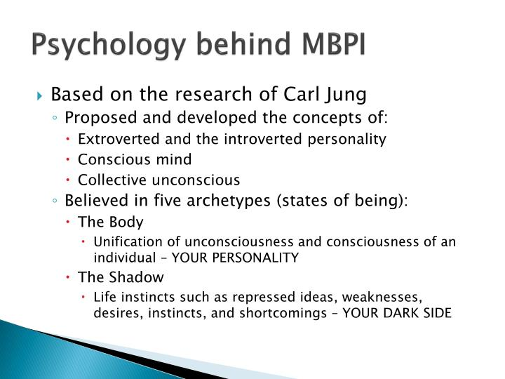 Psychology behind MBPI