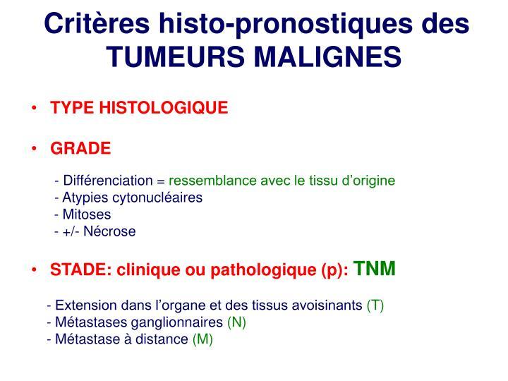 Critères histo-pronostiques des