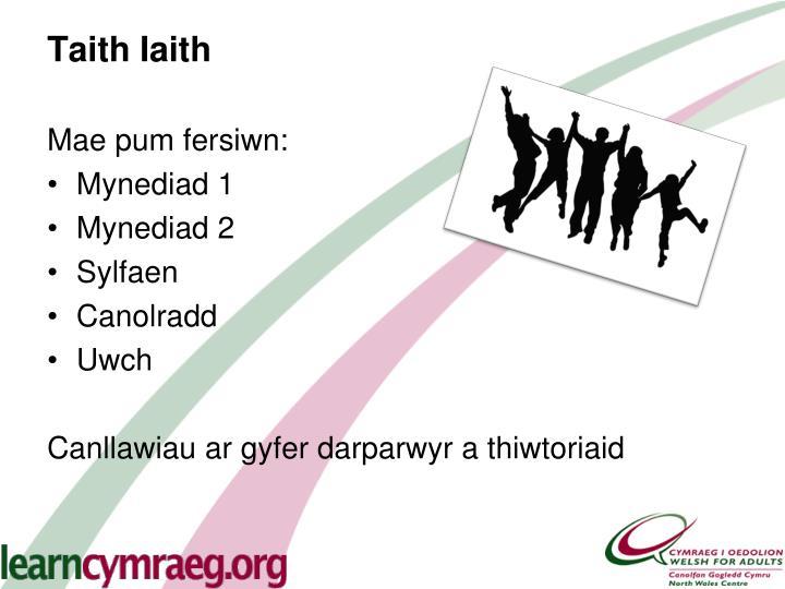 Taith Iaith