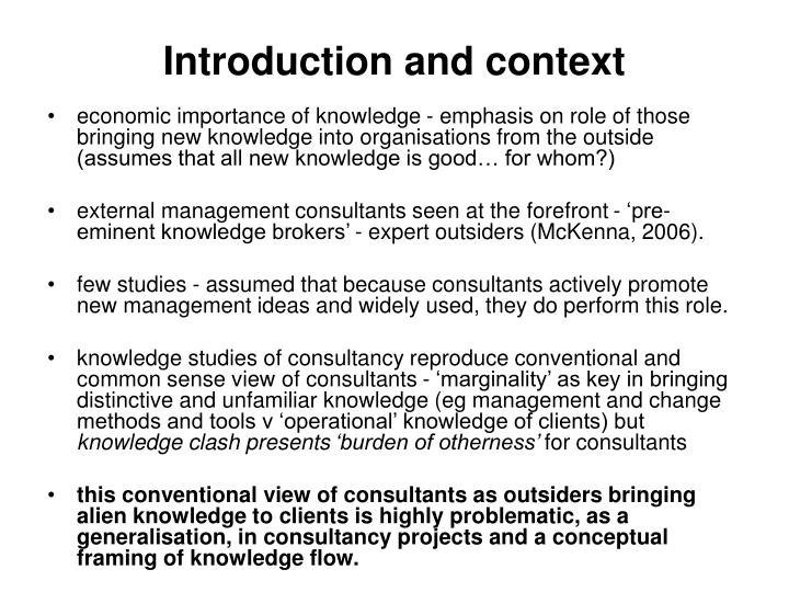 Introduction and context