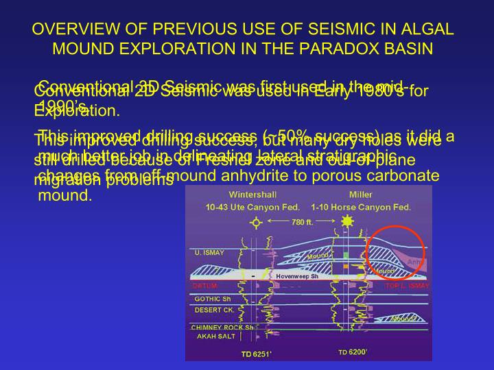 Conventional 3D Seismic was first used in the mid-1990's.