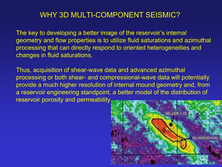 WHY 3D MULTI-COMPONENT SEISMIC?