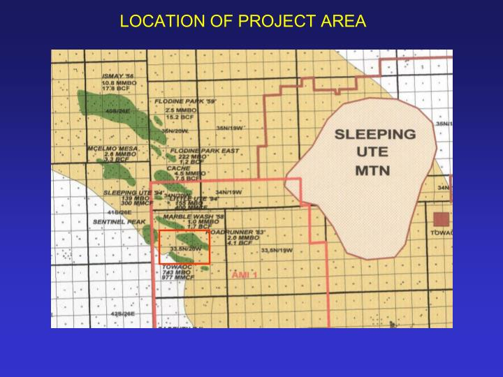 LOCATION OF PROJECT AREA