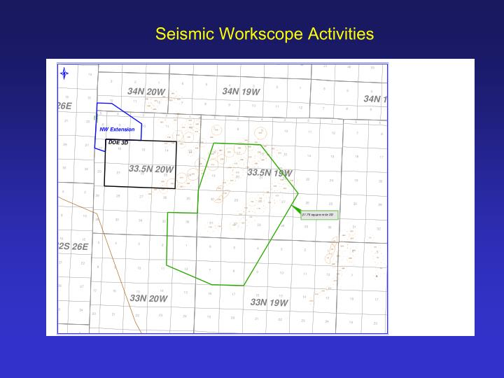 Seismic Workscope Activities