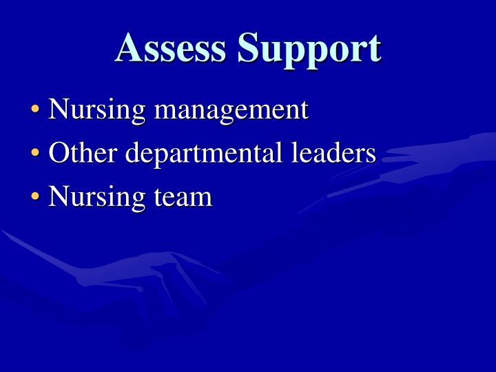 Assess Support