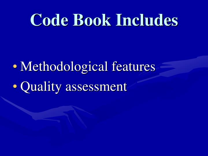 Code Book Includes