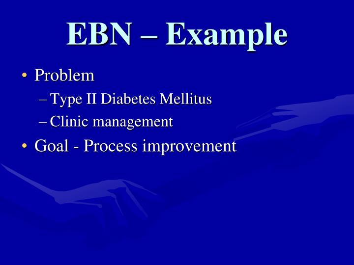 EBN – Example