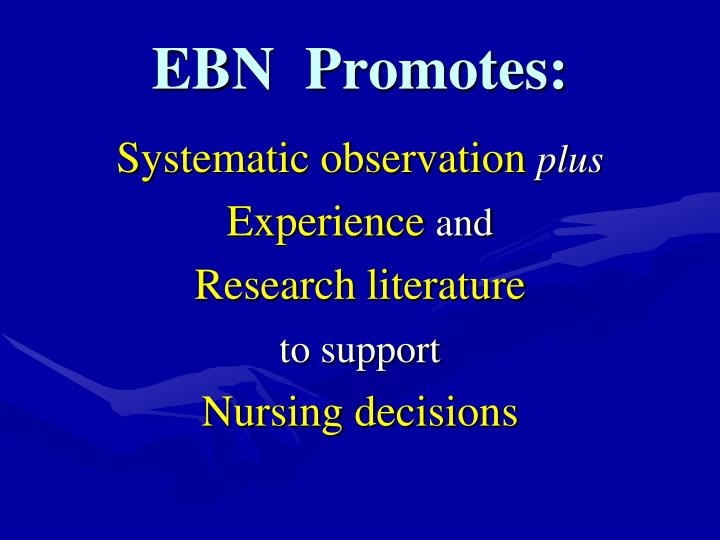 EBN  Promotes: