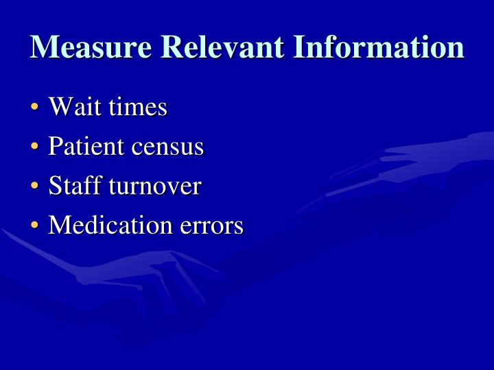 Measure Relevant Information