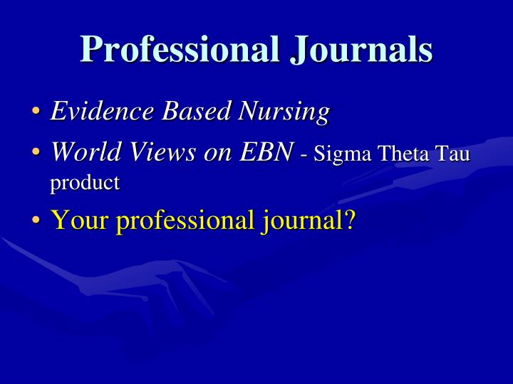 Professional Journals