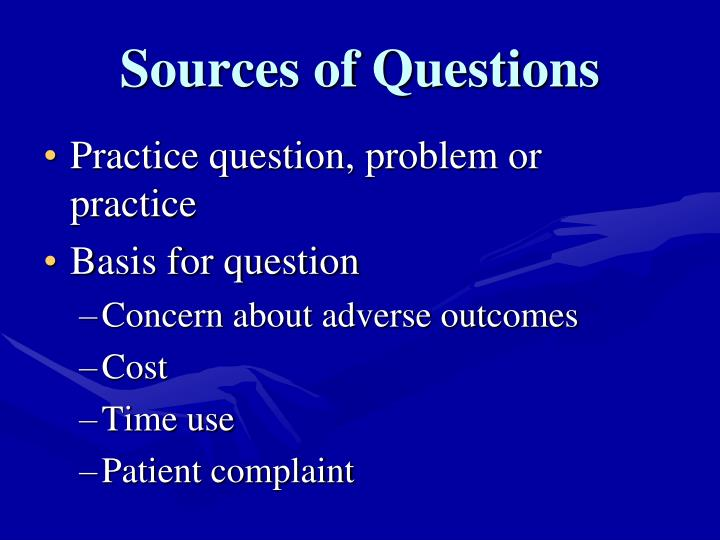 Sources of Questions