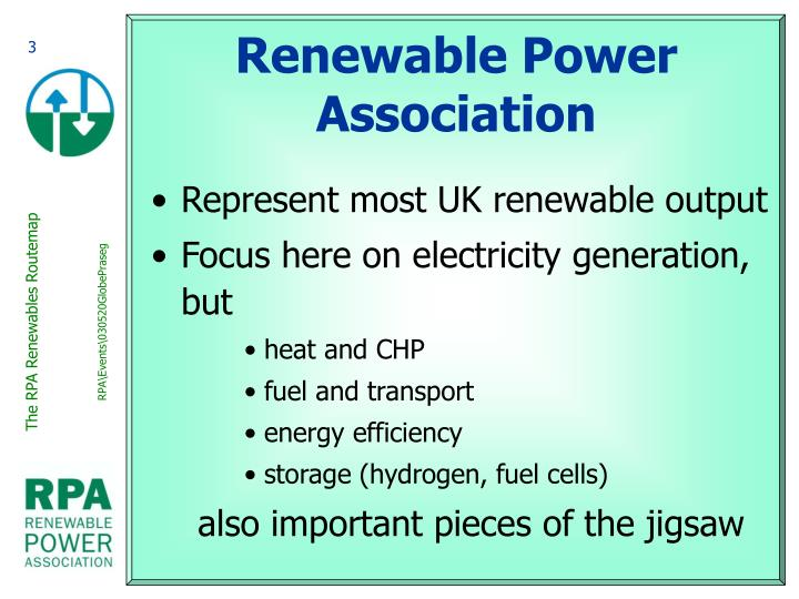 Renewable power association