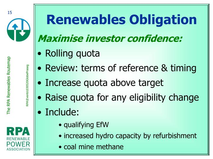 Renewables Obligation
