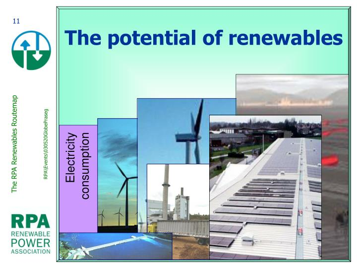 The potential of renewables