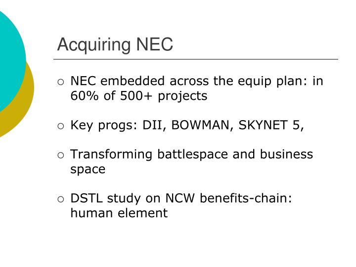 Acquiring NEC