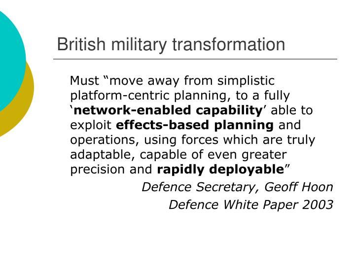 British military transformation