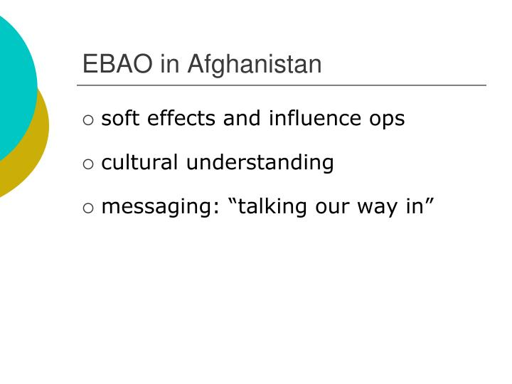 EBAO in Afghanistan