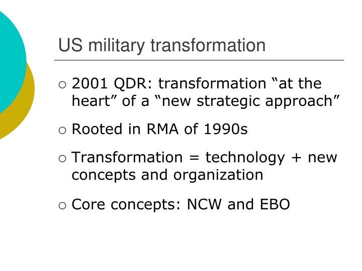 US military transformation