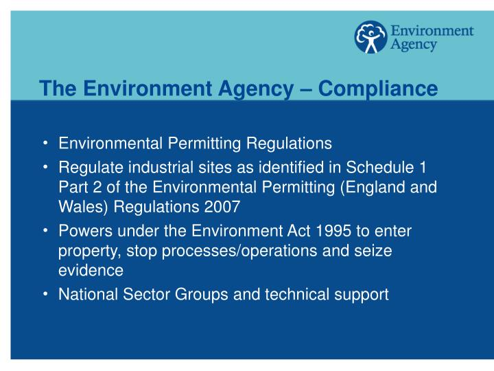 The Environment Agency – Compliance