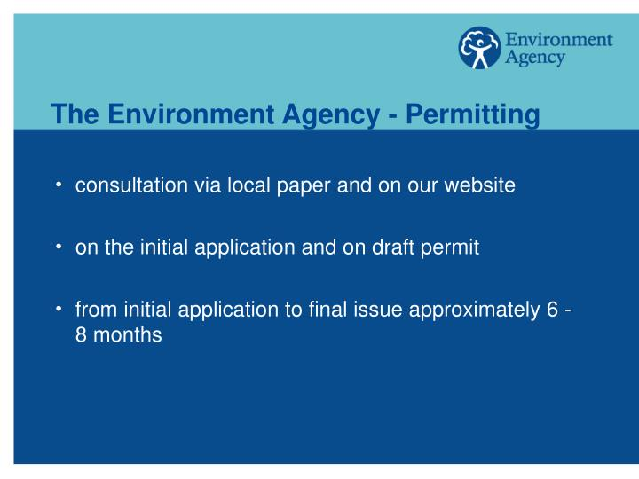 The Environment Agency - Permitting