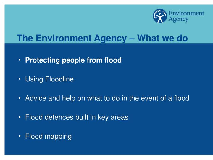 The Environment Agency – What we do