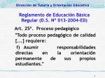reglamento de educaci n b sica regular d s n 013 2004 ed