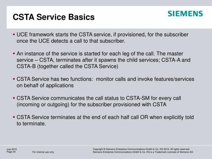 CSTA Service Basics