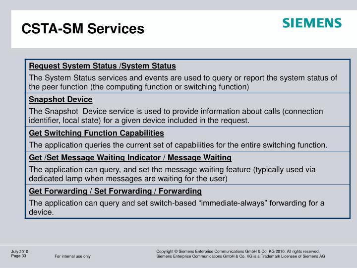 CSTA-SM Services