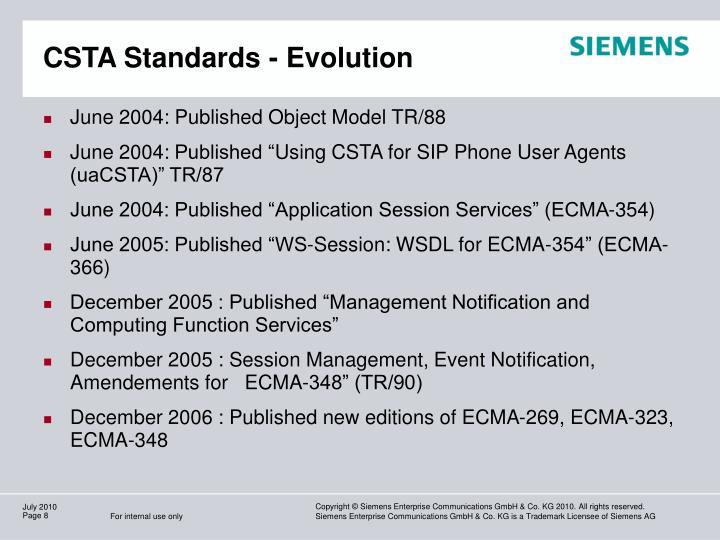 CSTA Standards - Evolution