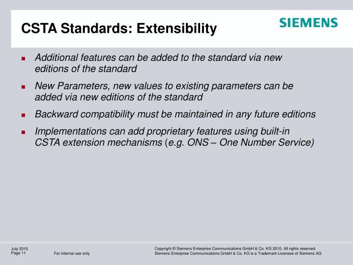 CSTA Standards: Extensibility