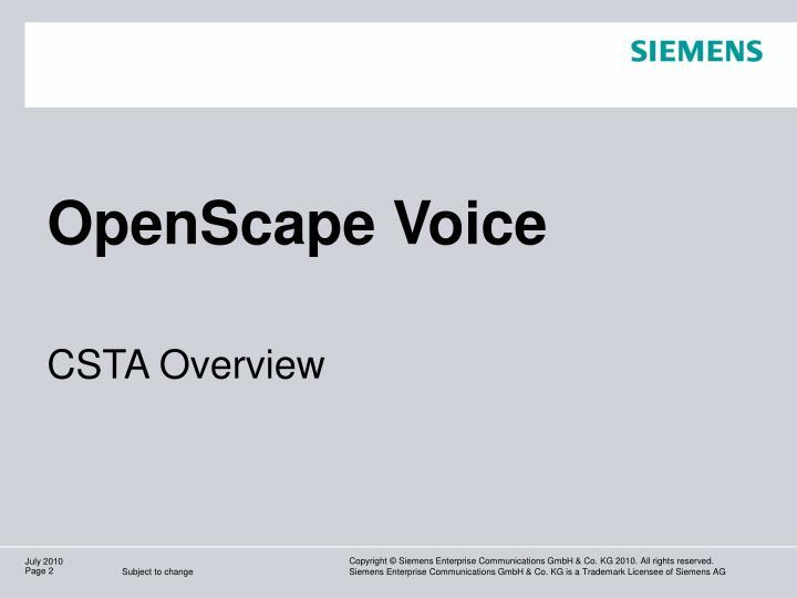 OpenScape Voice