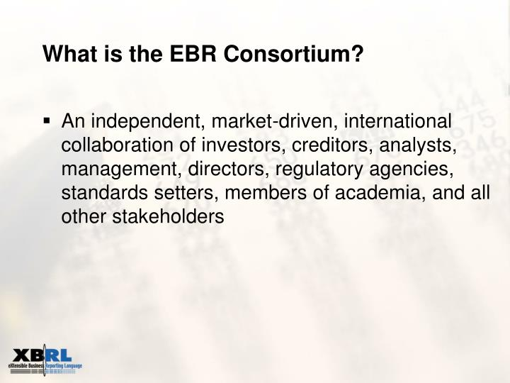 What is the ebr consortium