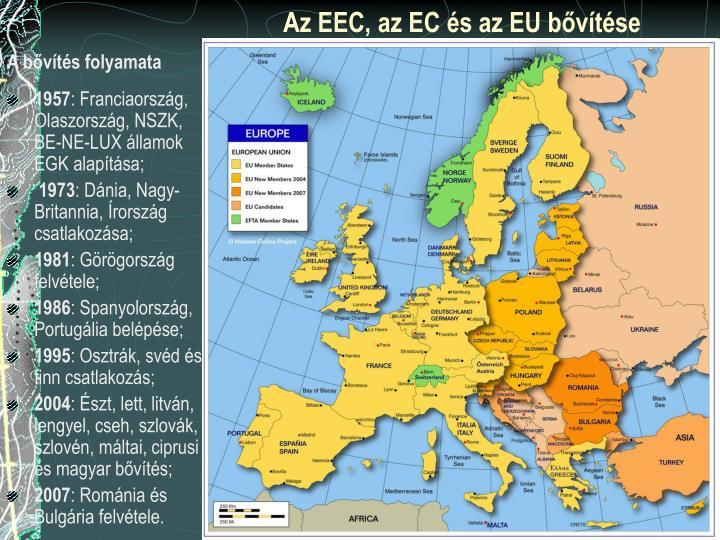 Az EEC, az EC és az EU bővítése