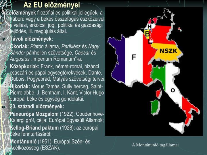 Az EU előzményei