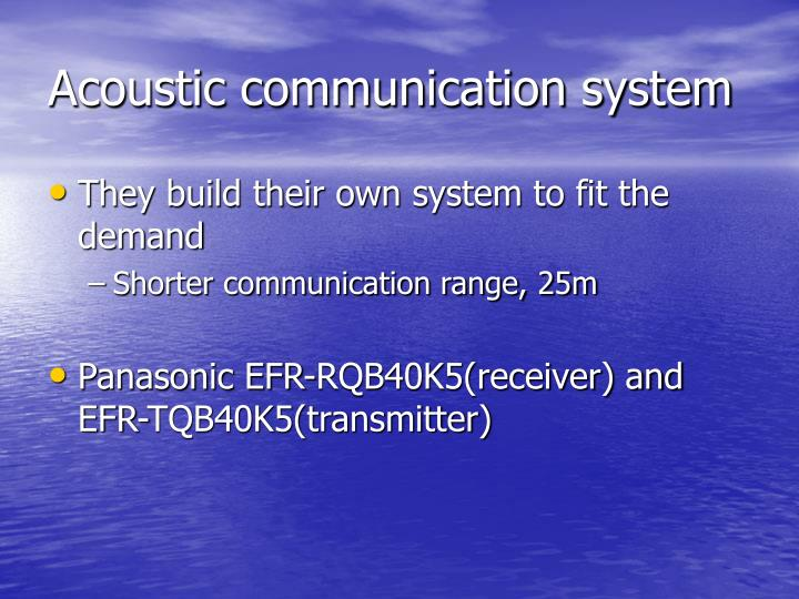 Acoustic communication system