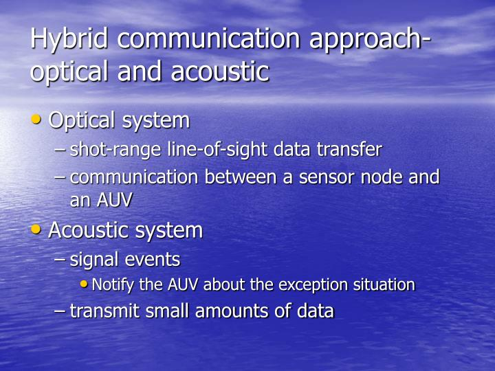 Hybrid communication approach-optical and acoustic